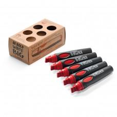 Набор профессиональных маркеров Neuland BigOne®, 5 шт красные