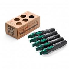 Набор профессиональных маркеров Neuland BigOne®, 5 шт зеленые