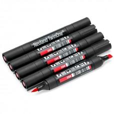 Набор двухсторонних красных маркеров Neuland TwinOne®, 5 шт
