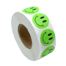 "Набор наклеек ""Зеленый Смайл""  (500 шт) - в рулоне"