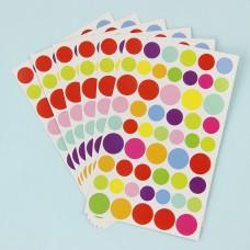 """Разноцветные наклейки """"Точка"""""""