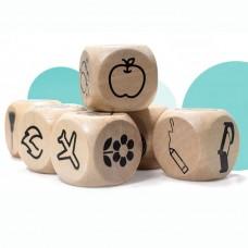 """Большие деревянные """"Кубики историй"""""""